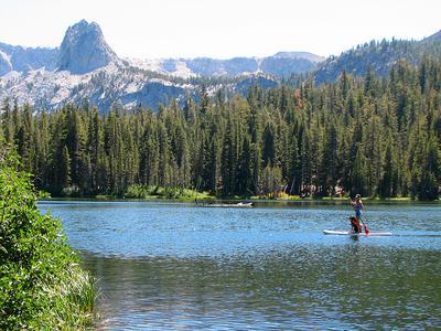 Lake Mamie near Mammoth Lakes California